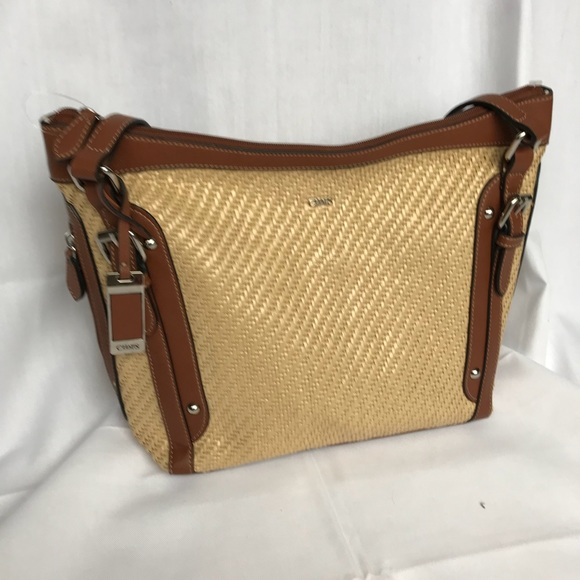 ce715a049a Chaps Handbags - Chaps Ralph Lauren Woven Shoulder Bag NWOT